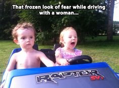 The frozen look of pure terror…