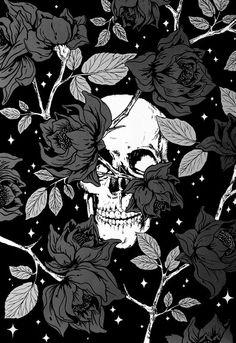 skullington and roses Wallpaper World, Dark Wallpaper, Wallpaper Backgrounds, Sugar Skull Wallpaper, Amazing Backgrounds, Aesthetic Iphone Wallpaper, Aesthetic Wallpapers, Wallpaper Caveira, Iphone Hintegründe