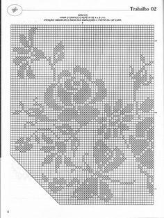 Este é um belo tapete para sala em crochê filé com motivos em rosas e borboletas. As medidas são de 1,46cm x 1,36cm.