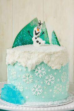 Torta di Frozen con decorazioni in pasta di zucchero n.34