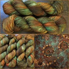 Rusty Copper in the shop! Witch Candy Yarn colorway.