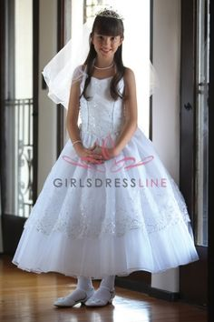 Dazzing embroidered organza dress with halter top AG-DR1214 on www.GirlsDressLine.Com