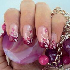 59 ideas manicure pedicure designs website for 2019 French Nail Designs, Toe Nail Designs, Beautiful Nail Designs, Beautiful Nail Art, Acrylic Nail Designs, Nail French, Fancy Nails, Cute Nails, Pretty Nails