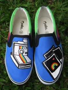Polaroid shoes - hand painted