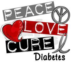 diabetes clip art logo | Peace Love Cure Diabetes image - vector clip art online, royalty free ...