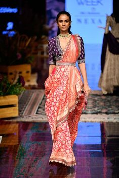New Jayanti Reddy 2019 Lakme Fashion Week Collection - Fashion Sari Design, Diy Design, Saree Blouse Neck Designs, Saree Blouse Patterns, Saree Draping Styles, Saree Styles, Indian Designer Outfits, Designer Dresses, Indian Dresses