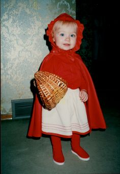 Amber dressed as Little Red Riding Hood. One of her early Performances ??