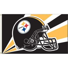 Pittsburgh-Steelers Football Helmet Flag