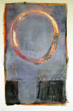 "'Rising Moon' by Karen Darling- 22""x30"" oil and wax on paper"