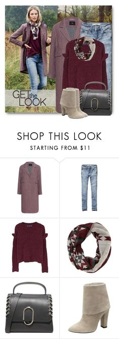 """""""Fall Denim & Burgundy"""" by brendariley-1 ❤ liked on Polyvore featuring Steffen Schraut, Abercrombie & Fitch, MANGO, Charlotte Russe, 3.1 Phillip Lim and Vince Camuto"""
