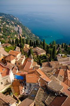 Cap-Martin view from Roquebrune Provence, Villefranche Sur Mer, Autumn Scenery, Antibes, French Riviera, South Of France, Beautiful Places To Visit, Paris, Countryside