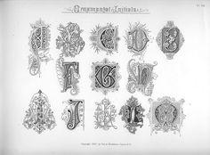 We Love Typography: Spencerian Compendium of Penmanship :: Ornamental Initials Chicano Lettering, Hand Lettering, Vintage Typography, Typography Logo, Illuminated Letters, Illuminated Manuscript, Monogram Fonts, Monogram Letters, Beautiful Handwriting