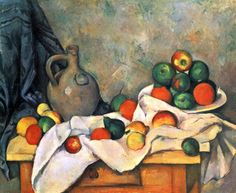 Top 15 Most Famous Paintings by Paul Cézanne. Paul Cezanne was one of the main artists of Post Impressionism. Cezanne Art, Paul Cezanne Paintings, Henri Rousseau, Henri Matisse, Cezanne Still Life, Most Famous Paintings, Famous Artwork, Food Painting, Edgar Degas