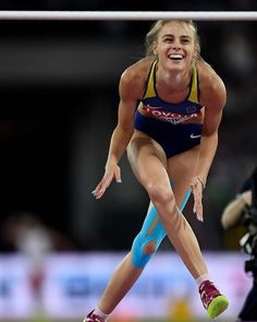 High Jumpers High Jumpers More from my site Ukranian High Jumpers are beautiful. Darya Klishina, Beautiful Athletes, Racing Events, High Jump, Sport Body, Action Poses, Sports Stars, Female Poses, Track And Field