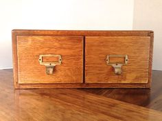 Vintage Wooden Card Catalog / 2 Drawer by thevintagetreehouse, $187.50