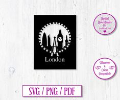 London City Digital Download Decal by JumbleinkDesign on Etsy London Silhouette, City Scapes, Handmade Items, Handmade Gifts, London City, Decals, Digital, Frame, Etsy
