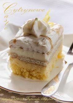 TAPENDA recipes for each day: lemon cake Polish Desserts, Polish Recipes, Polish Food, Cupcakes, Eat Dessert First, Homemade Cakes, Vanilla Cake, Baked Goods, Cake Recipes