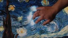 Van Gogh's Starry Night--a beautiful interactive light video...great for teaching line as implied movement...