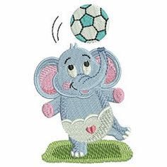 Baby Elephant 13 - 4x4 | What's New | Machine Embroidery Designs | SWAKembroidery.com Ace Points Embroidery
