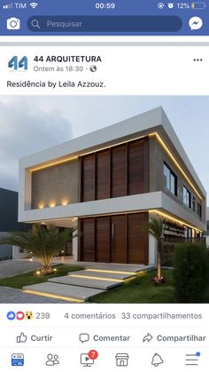 Arch House, House Front, Types Of Houses, Big Houses, Villa Plan, Duplex House, Container House Design, House Elevation, Sims House