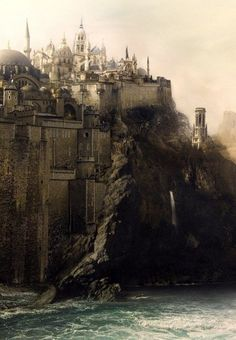 City upon a cliff. by rachel..54