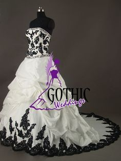 gothic wedding dresses | Gothic Weddings: black and white dress...
