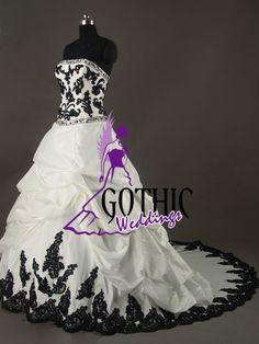 gothic wedding dresses | Gothic Weddings: black and white dress...