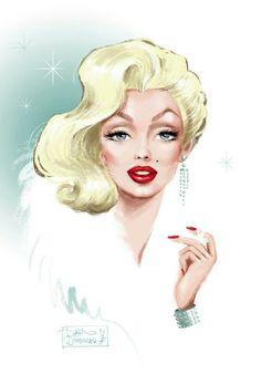 Marilyn Monroe portrait. Artist: ?