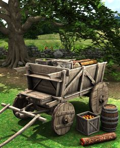 Medieval Wagon   3D Models and 3D Software by Daz 3D