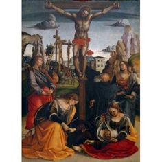 Crucifixion by Luca Signorelli tempera on wood (1441-1523) Italy Tuscany Sansepolcro Civic Museum Canvas Art - Luca Signorelli (24 x 36)