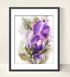 Abstract Flowers Art Print of Original by CanotStopPrints on Etsy, $17.00