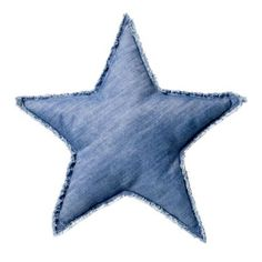 Bloomingville - Coussin en denim 50 cm [Star]