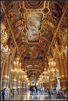 The Hall of Mirrors at Chateau Versailles, France
