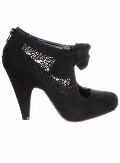 Compulsion Chic.  Lovely Lace Pump Booties.
