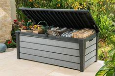 Keter Plastic Garden Storage Box Brushwood XL Piston Lid Waterproof Free Postage · $119.95