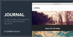 Journal - Responsive Readable WordPress Blog Theme - ThemeForest Item for Sale