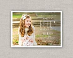 Custom Cards & Party Printables by announcingyou Jane And Michael, Baby Boy Birth Announcement, Baptism Invitations, Custom Cards, Color Correction, Front Design, Party Printables, Lds, White Envelopes