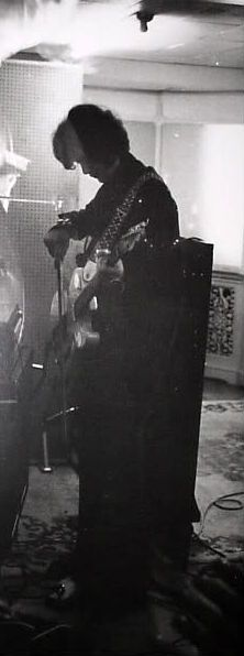 1966* Jimmy at IBC Studios, London, w/ Brian Jones (cut out of put.)