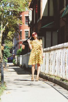Strolling in Strawberries #modcloth #housedress #vintagestyle #hearts