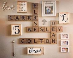 Scrabble collage walls by Legacy!
