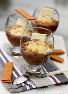 Chocolate and chestnut trifle