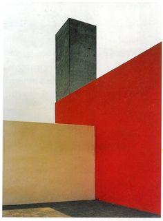 "gg-ll: "" Luis Barragan "" Architecture Design, Gothic Architecture, Orange Architecture, Architecture Diagrams, Architecture Portfolio, Brutalist, Exterior, Mexico City, Architectural Presentation"