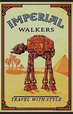 Imperial Walkers Travel With Style Shriners/Star Wars Star Wars Film, Star Wars Fan Art, Star Wars Poster, Star Trek, Amour Star Wars, Humour Geek, Star Wars Painting, Star Wars Tattoo, The Force Is Strong
