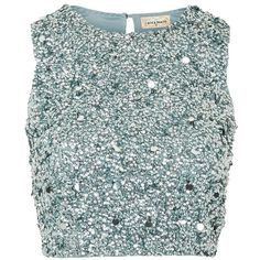 Picasso Top by Lace & Beads (£60) ❤ liked on Polyvore featuring tops, teal, sparkly sequin top, button crop top, teal crop top, sparkly tops and crop tops Green Lace Top, Green Crop Top, Green Tops, Teal Green, Sparkly Crop Tops, Sequin Crop Top, Cute Crop Tops, Frozen Fashion, Embellished Top