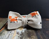 Bow Tie for Men by BartekDesign: self tie beige fox triangle animal hipster fun informal gift for him wedding Tie And Pocket Square, Gifts For Him, Handmade Gifts, Triangle, Etsy Seller, Hipster, Bows, Etsy Shop, Beige