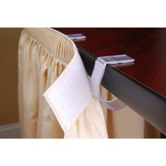 """Super Multi-Clip® Table Skirting Clips are perfect LIFETIME® Plastic Folding Tables. These products are produced with genuine VELCRO® Brand Fasteners and are a standard clip is 1""""."""