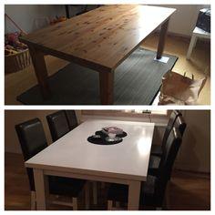 Målat om matbordet och stolarna!