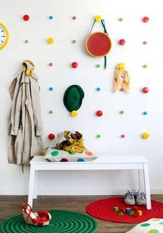 IKEA wall dots storage