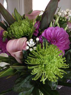 Calla lilies, blooms, bouvardia and dahlias! Calla Lilies, Dahlias, Bloom, Lily, Birthday, Flowers, Plants, Beautiful, Birthdays