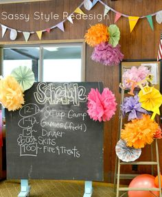 How to decorate for Girls Camp